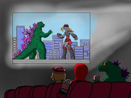 Re. Godzilla Vs mecha Serena