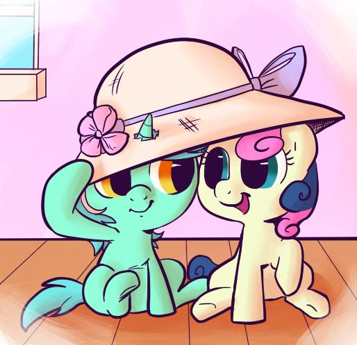 Lyra and Bon Bon by RustyDooks