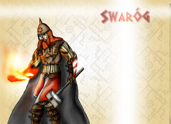 Swarog- god of sun by DarthDestruktor