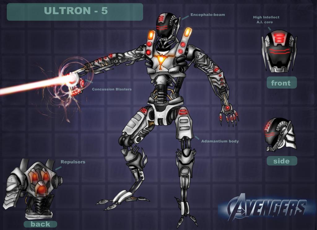 Movie Ultron - The Avengers by DarthDestruktor