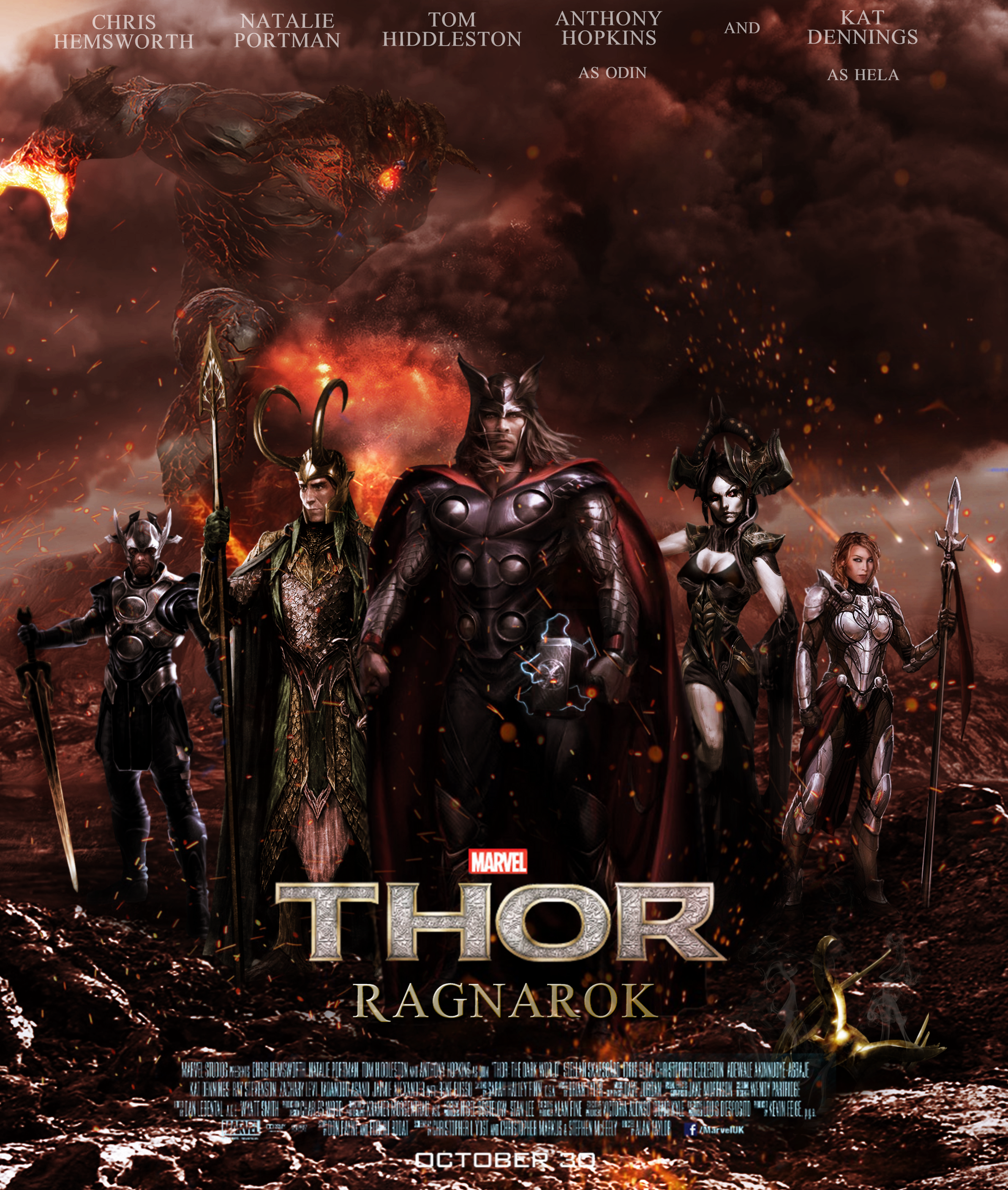 THOR: RAGNAROK fan made poster by DarthDestruktor on