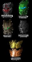 Noble Kanohi designs 2 by DarthDestruktor