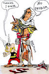 Asterix meets Bayek of Siwa by DarthDestruktor