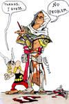 Asterix meets Bayek of Siwa by DarthDestruktor