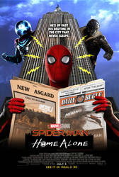 MCU Spider-Man poster parody by DarthDestruktor