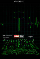 Thor Love and Thunder minimalistic poster
