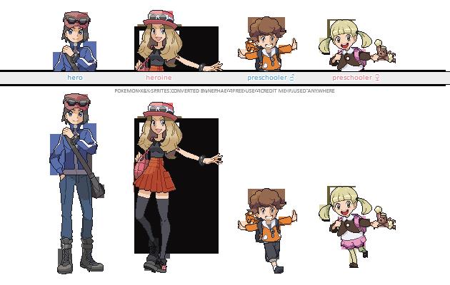 Pokemon XY trainer sprites ( IV ) by Nephae on DeviantArt