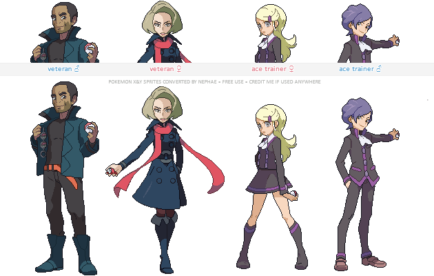 pokemon xy trainer sprites v by nephae on deviantart. Black Bedroom Furniture Sets. Home Design Ideas