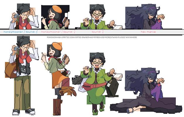 Pokemon XY trainer sprites ( VI ) by Nephae on DeviantArt