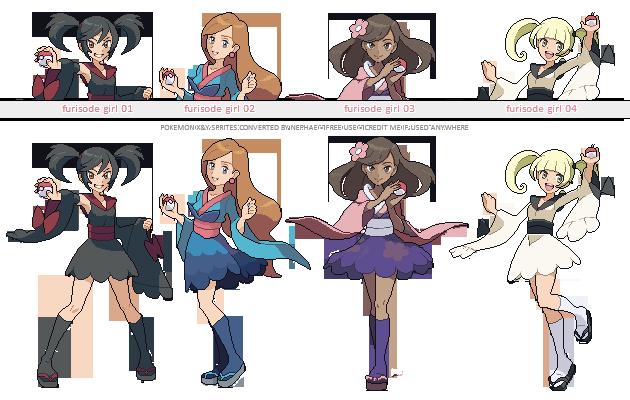 Pokemon XY trainer sprites ( VII ) by Nephae on DeviantArt