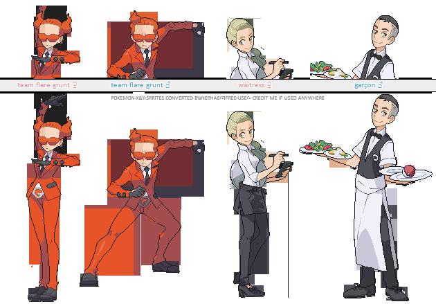 Pokemon Gen 4 Anime Characters : Pokemon xy trainer sprites viii by nephae on deviantart