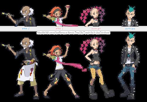 Pokemon XY trainer sprites ( X )