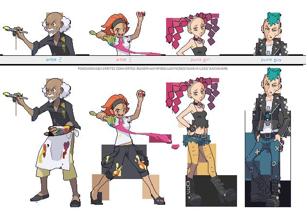 Pokemon XY trainer sprites ( X ) by Nephae on DeviantArt