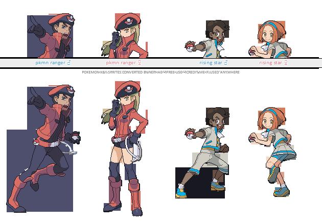 Pokemon Gen 4 Anime Characters : Pokemon xy trainer sprites xi by nephae on deviantart