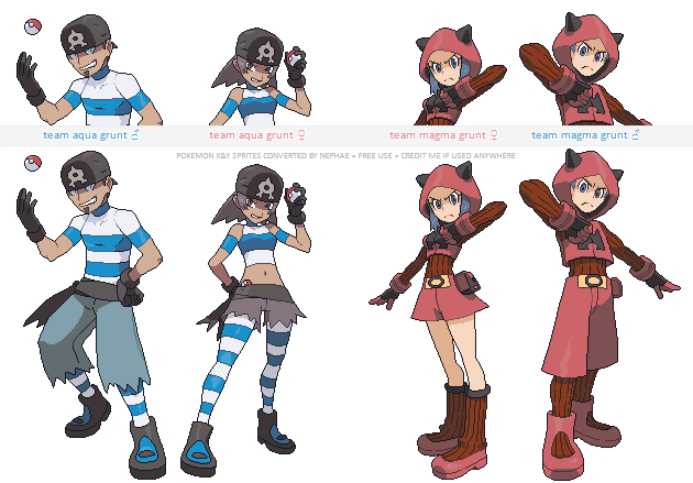 Pokemon ORAS trainer sprites ( I ) by Nephae on DeviantArt