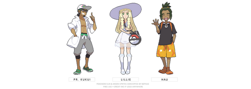 (POKEMON SUN/MOON) main acolytes sprites