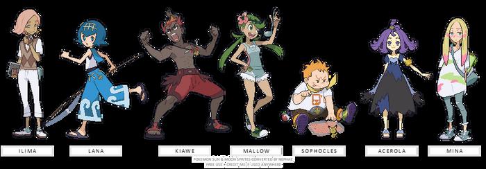 (POKEMON SUN/MOON) trial captains
