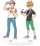 (POKEMON SUN/MOON) rivals Red and Blue