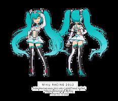 Miku racing 2012 pixel sprites by Nephae