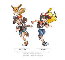 (POKEMON LET'S GO) heroes sprites by Nephae
