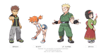 (POKEMON LET'S GO) gym leaders sprites by Nephae