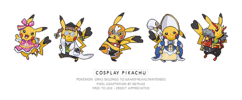 (POKEMON ORAS) cosplay pikachu