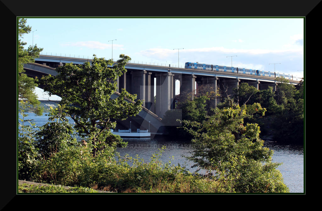 Traneberg Bridge, Stockholm by Sipramiili