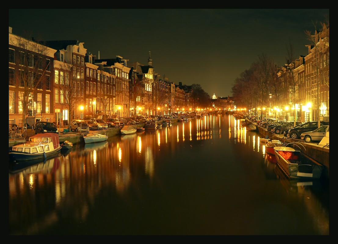 фото ночной амстердам