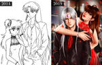 Sesshomaru and Rin progress from 2014 to 2019 by dianaefs