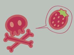 strawberry skulls