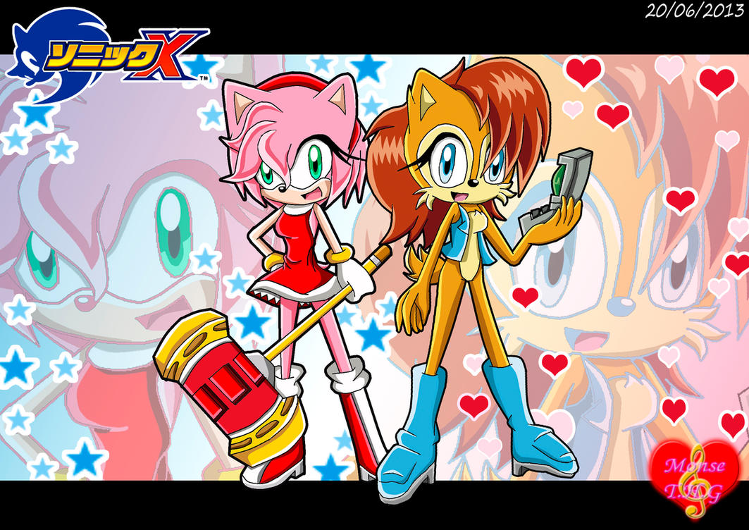 Amy and Sally-Version Sonic X by Monsethehedgehog