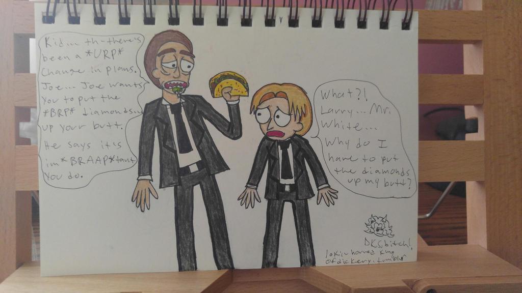 The Adventures of Mr. White and Mr. Orange by DoubleKatanaSayuri