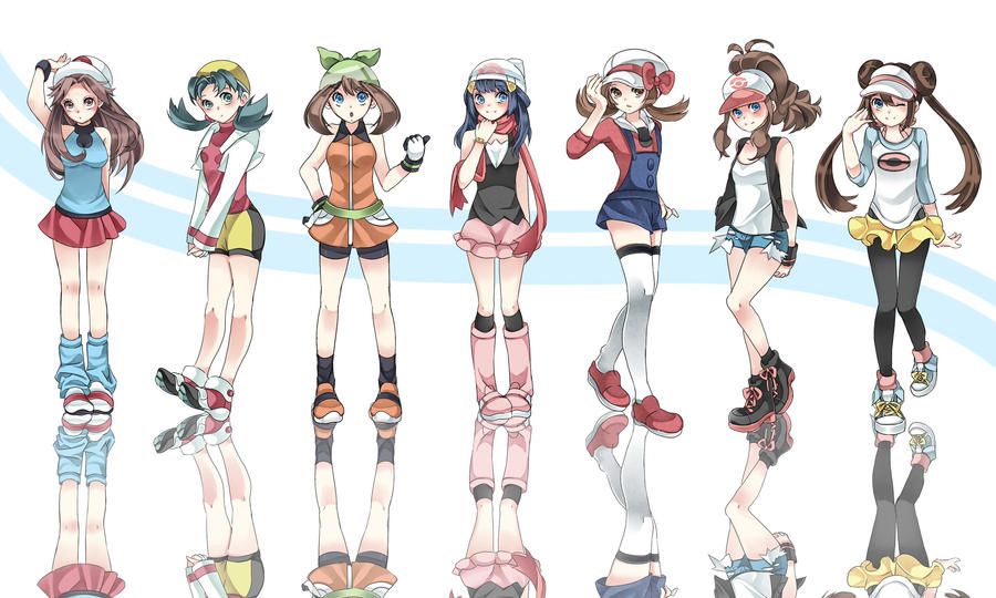 Pokemon And Y Anime Characters Names : Pokemon girls by kazuyo on deviantart