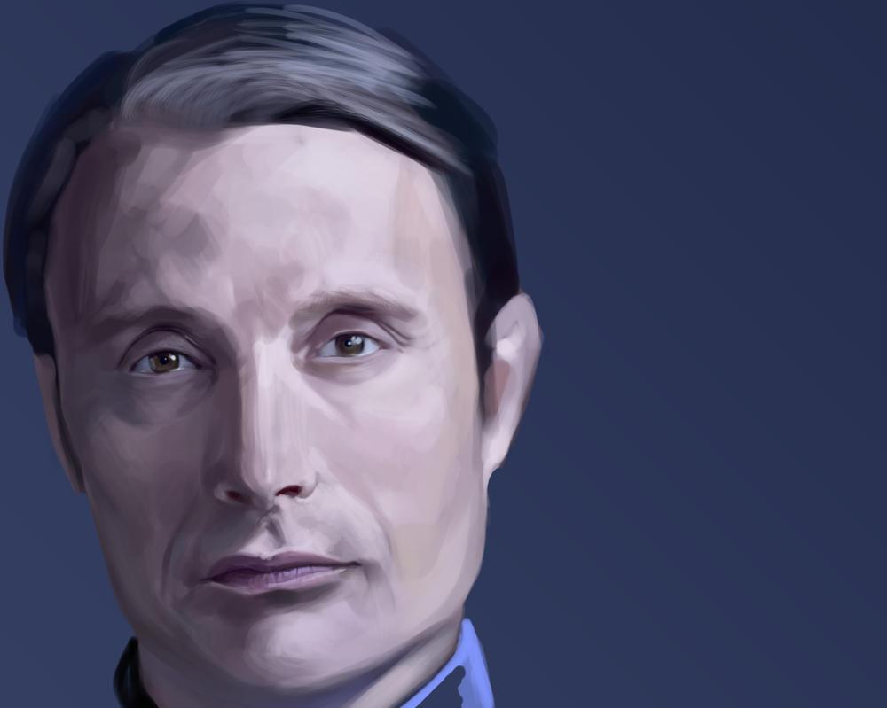 Work in progress - Hannibal portrait by szilviahart