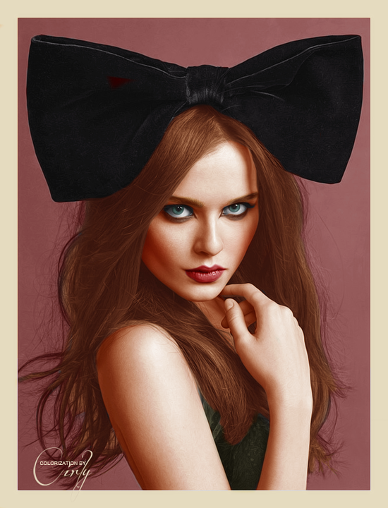 Bow Colorization by cirlyisnotmyname