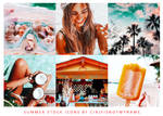 6 ICONS SUMMER STOCK by cirlyisnotmyname