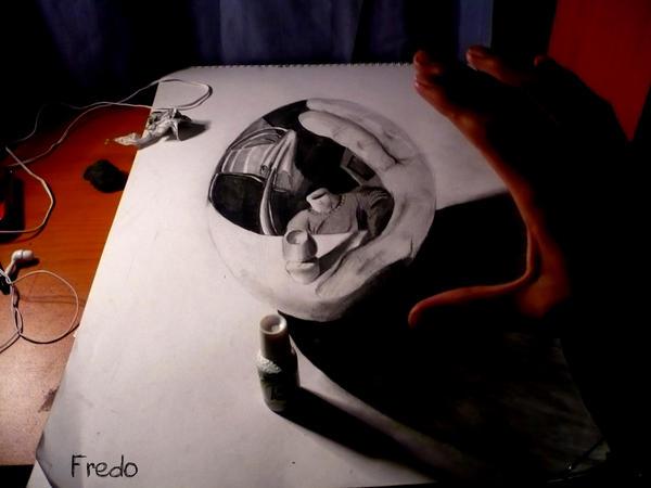 FredoART - Un blog de dessin trompe l'oeil Lost_Head_by_FredoART