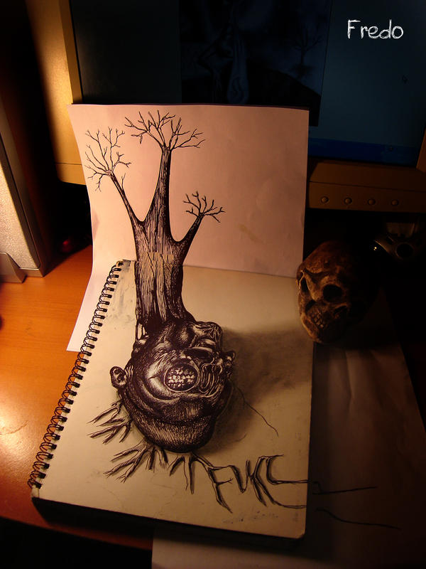 Inspired Surreal 3D Artwork using Pencil