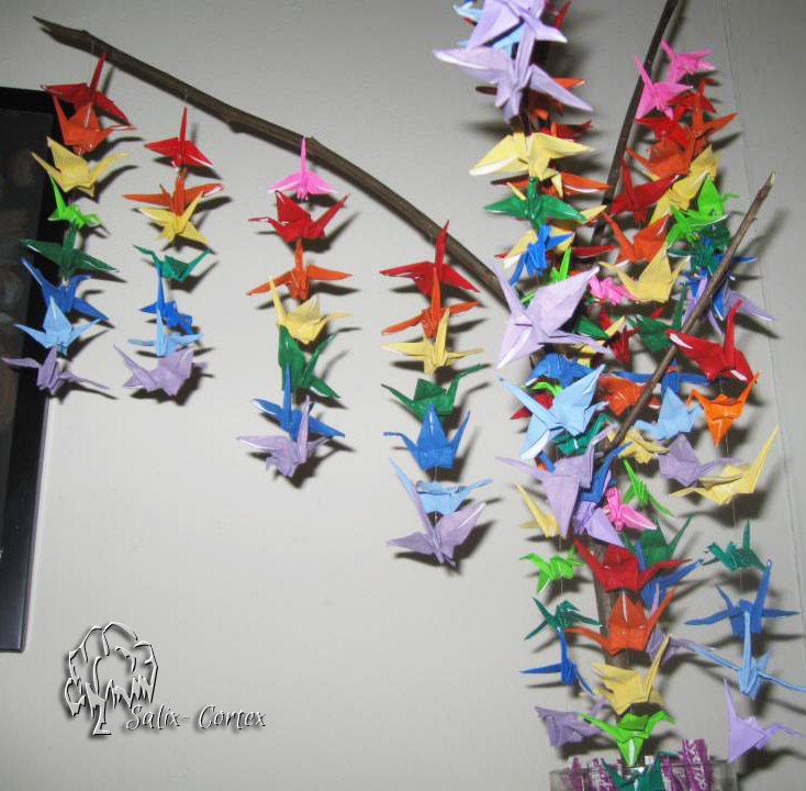 Mini Crane Origami Tree By Salix Cortex