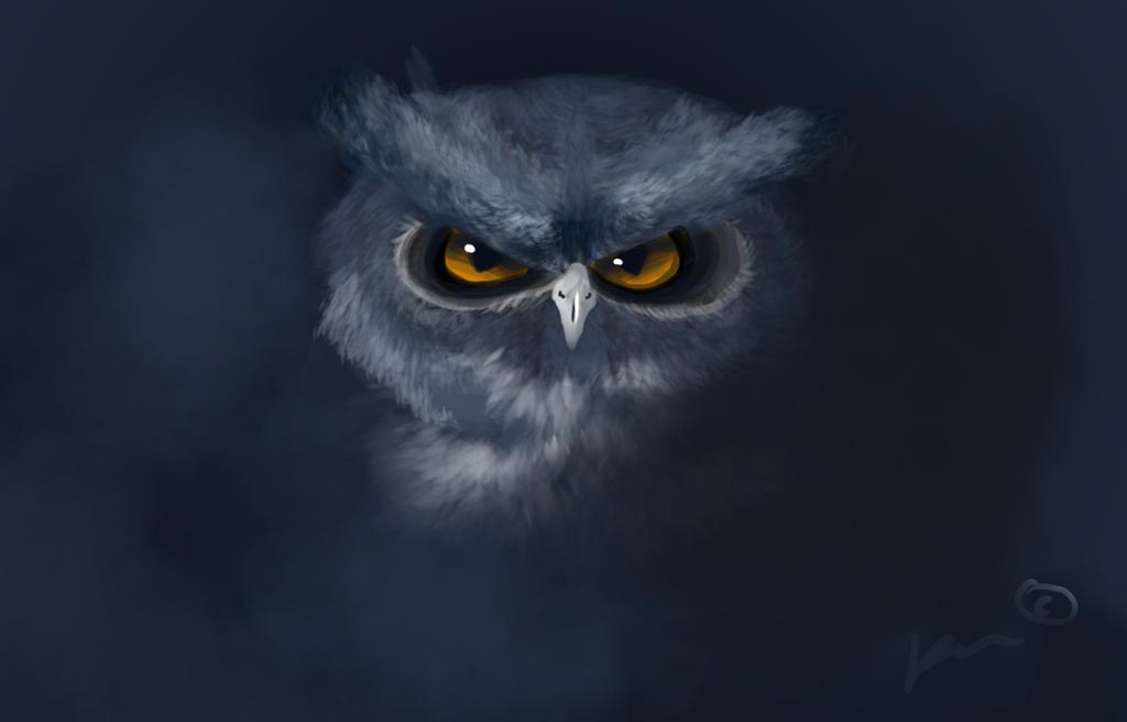 Scorbutical owl by KoomaWolf