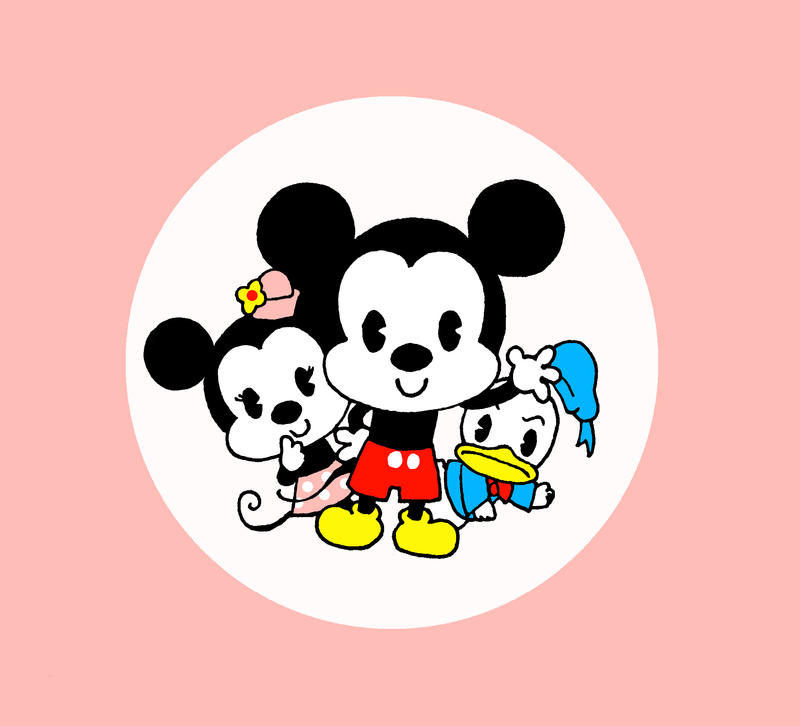 how to draw baby mickey and minnie