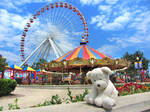 Lonely Bear at Navy Pier