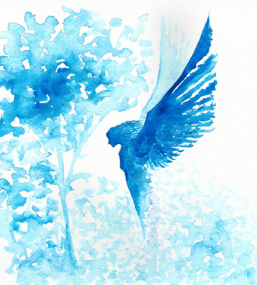 Watercolor Angel by kilroyart