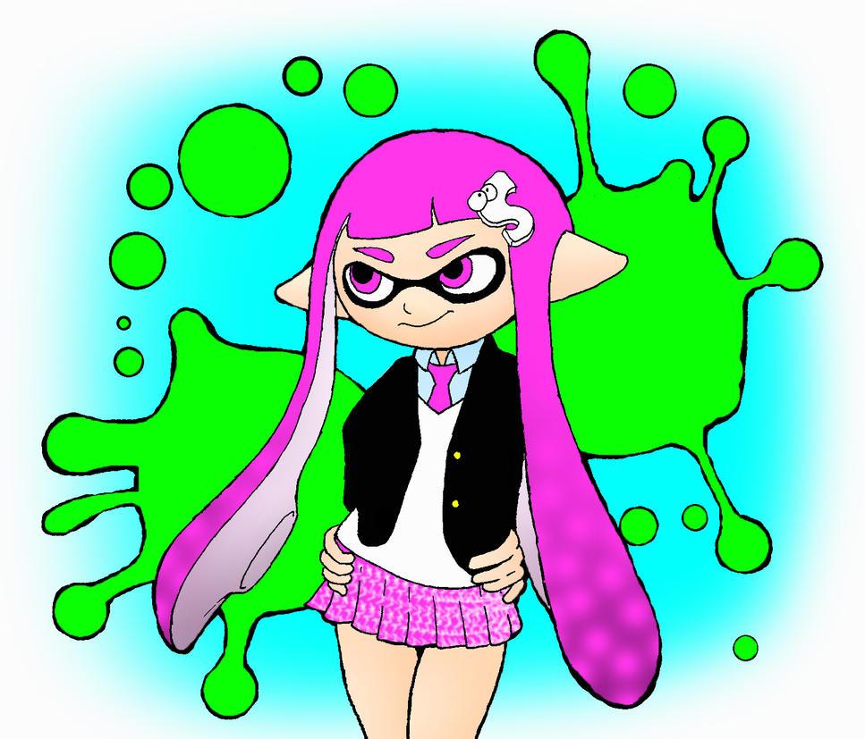Ink Girl Splatoon by kilroyart