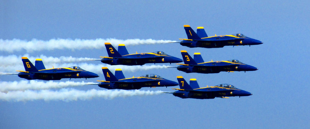The Blue Angels by kilroyart