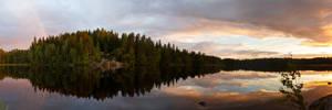 Ritajarvi panorama by Antz0