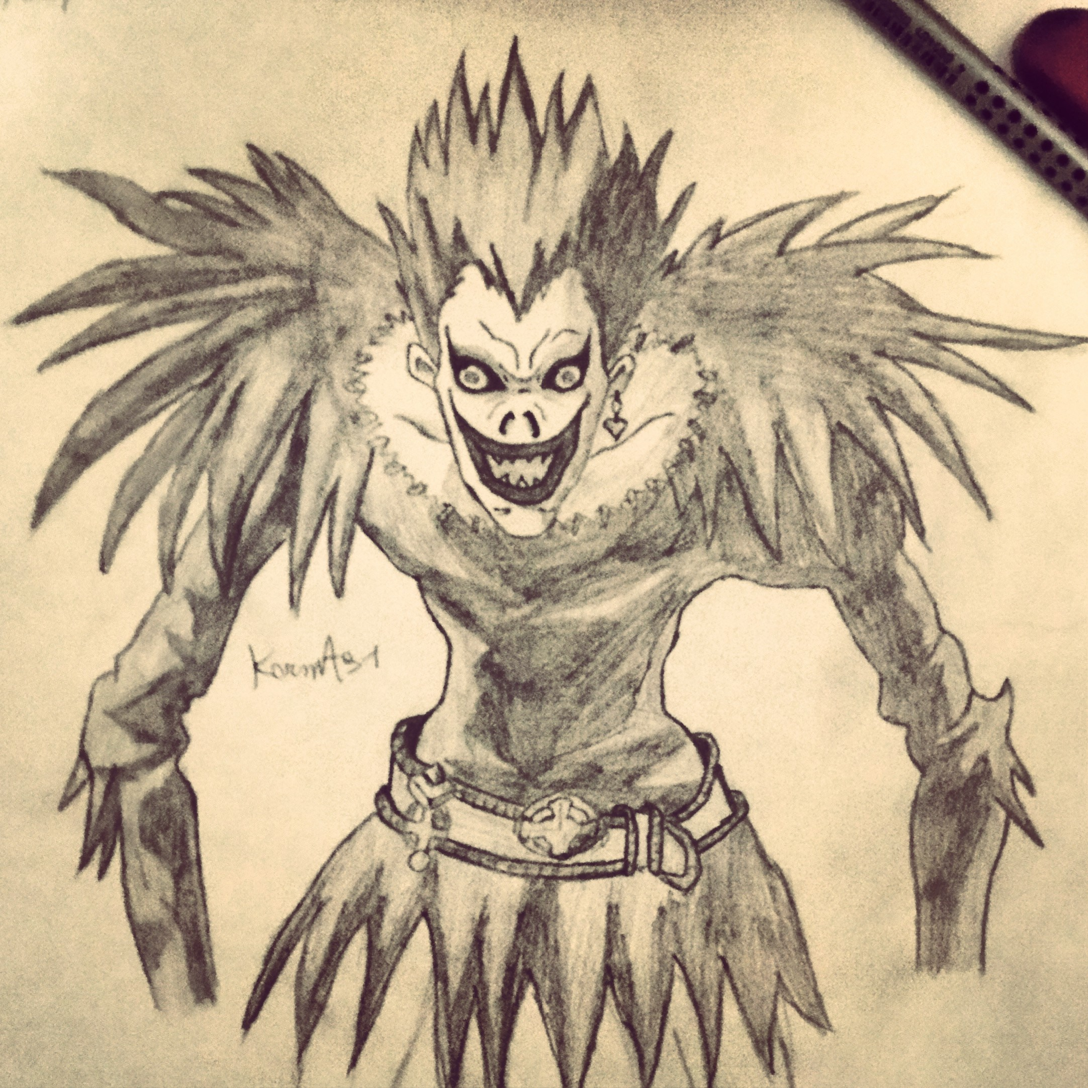 Ryuk from Death Note by KarmaSound91 on DeviantArt