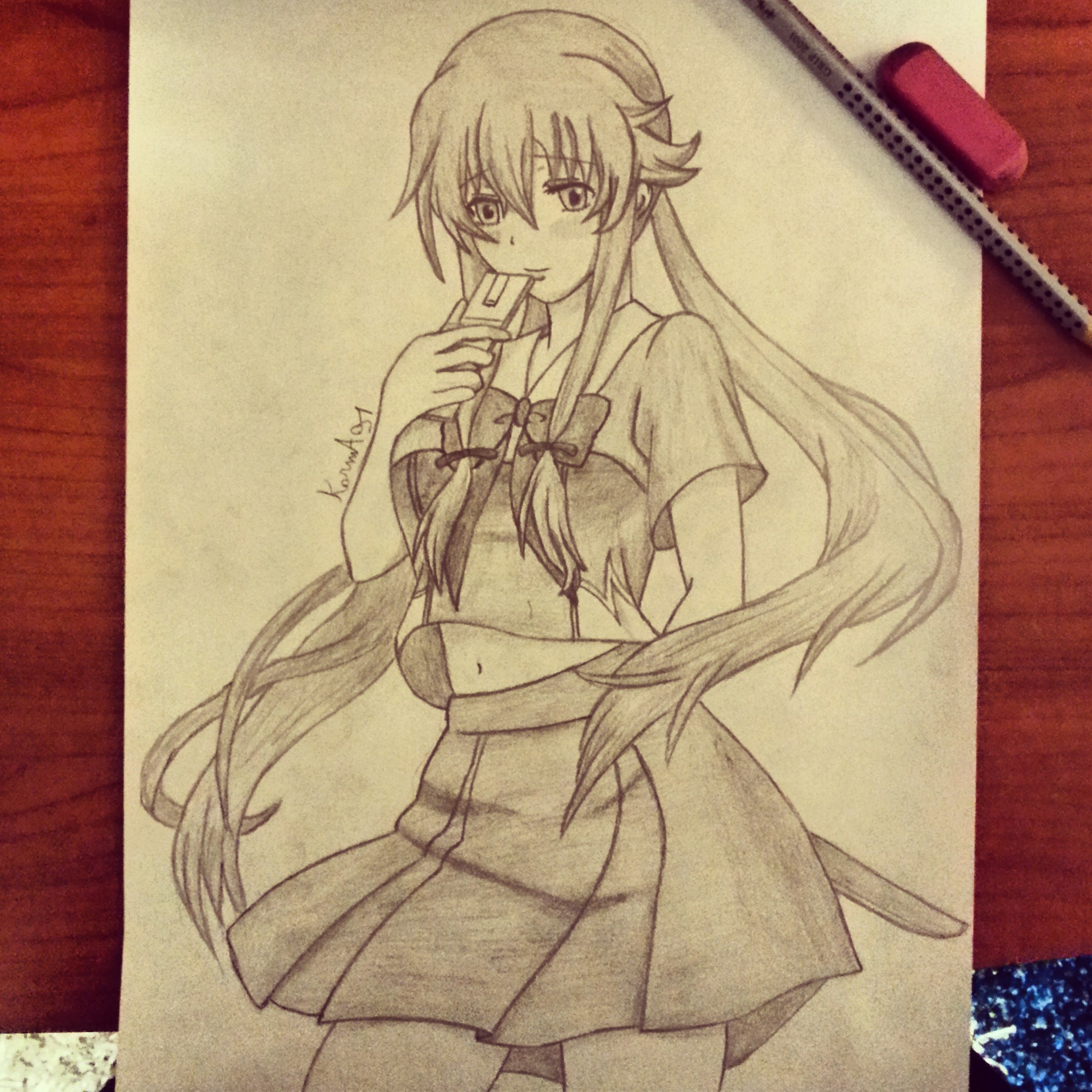 Yuno Gasai from Mirai Nikki - 2 by KarmaSound91