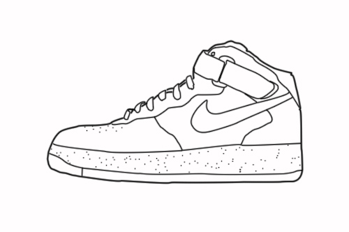 huge discount 794b5 53a5d Nike air force 1 lineart by high--tower