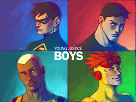 Young Justice BOYS by Cris-Art